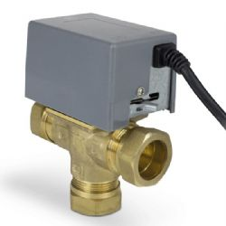 Salus PMV38 - 3 port motorised valve complete with actuator head