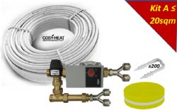 .KIT A - Warm Water Underfloor Heating - Single Zone up to 20sqm