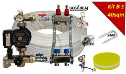 .KIT B - Warm Water Underfloor Heating - Single Zone up to 40sqm