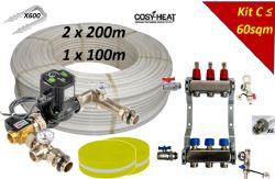 KIT C - Warm Water Underfloor Heating - Single Zone up to 60sqm