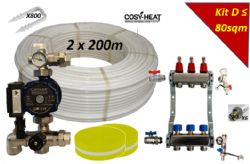 .KIT D - Warm Water Underfloor Heating - Single Zone up to 80sqm