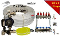 .KIT E - Warm Water Underfloor Heating - Single Zone up to 100sqm
