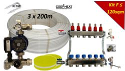 .KIT F - Warm Water Underfloor Heating - Single Zone up to 120sqm