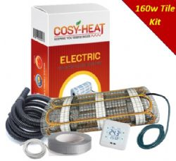 KIT - Cosy-Heat 160 Series Under Tile Heating Mat INC Thermostat & Fixing Kit 160W per sqm