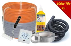 KIT - Cosy-Heat 100 Series Loose Cable Under Tile Heating INC Thermostat & Fixing Kit 100W per sqm