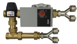 . Pump & Mixing Valve - Single Zone Unit - Up to 40sqm Underfloor Heating